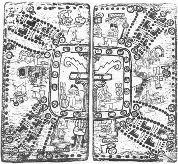 Image of Tzolkin calendar in Madrid Codex