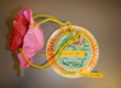 a colorful paper plate model